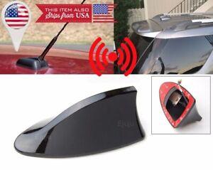 Roof Black Shark Fin Vortex Stereo Radio Aerial Signal Antenna FM for VW Porsche