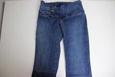 Serfontaine Womens 10 Jeans Shredded Fringe Denim Boho Low Rise Hippie Vintage