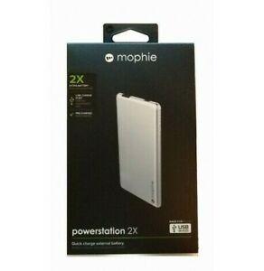 Mophie Powerstation 2X - External Battery/Power Bank Ultra End Silver 3301