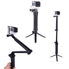 Three 3 way Selfie Handheld Stick Monopod Folding Holder for GoPro hero 4 3+ 3 2