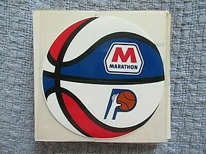 RARE ABA INDIANA PACERS BASKETBALL DECAL STICKER - AUTHENTIC ~ MARATHON GASOLINE
