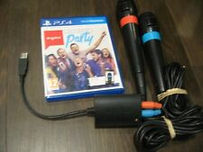 Singstar Ultimate Party Sony PS4 + 2 Wired Mics Singing Game inc - Let It Go