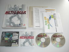 METAL GEAR SOLID 1 inc VR Missions Pc Cd Rom ORIGINAL BIG BOX VERSION  MGS1 MGS