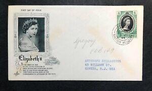 British Honduras 1953 Coronation FDC First Day cover