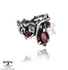 Alchemy Gothic Passion Ring Size N Pewter Red Crystal Wiccan Pagan