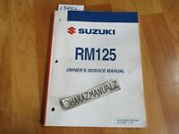 2006 SUZUKI RM125 Owner Owners Owner's Service Manual