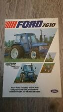 FORD 7610 UK English Tractor Brochure June 1981
