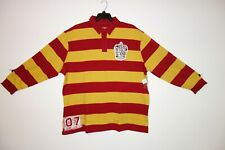 Universal Harry Potter Rugby Stripe Long Sleeve Shirt Quidditch Gryffindor 3XL