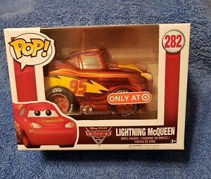 ~☆~ Funko Pop! Disney Pixar Cars Chrome Lightning McQueen #282 Target Excl. ~☆~