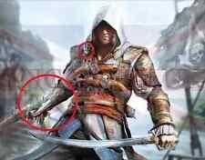 Assassins Creed 4 Cuatro Negro Bandera Pirata Hidden Blade (PVC) mismo envío del día