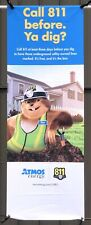 Gus The Gopher 811 Advertising Cloth Banner Sign 32� X 95� Garage/Man Cave