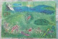 "Marc Chagall  "" Daphnis and Chloe ""  The Orchard Large Color Lithograph 1977"