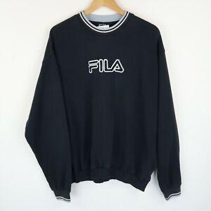FILA Vintage 90's Y2k Sweatshirt Spell out Logo SZ LARGE ( E9477)