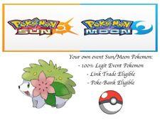 Pokémon Ultra Sun And Moon 20th Anniversary Mythical Event Pokemon Shaymin