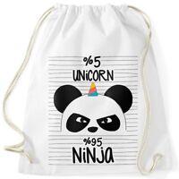 Einhorn Ninja Turnbeutel Unicorn Pandicorn Panda Moonworks®