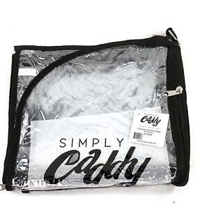 "Dance Costume Garment Bag Black Trim Clear Plastic 36"" x 19"" Multiple Pockets"