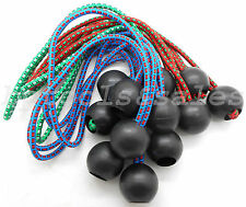 """(12) 9"""" Color Ball Bungee Cord Tarp Bungee Tie Down Strap Bungi Canopy Straps"""