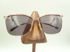 dd0fb78964 Vintage Luxottica Gold Multi-Color Metal Brow Square Sunglasses Frames Italy