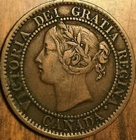 1859 CANADA LARGE CENT PENNY 1 CENT COIN - Looks Dp 5
