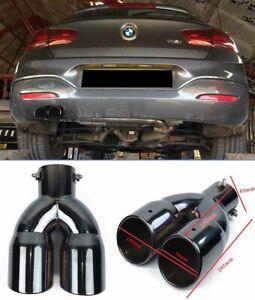 BMW SERIE 1 F20 F21 LOOK M TERMINALE DI SCARICO NERO LUCIDO INOX