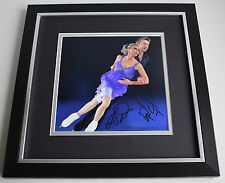 Jayne Torvill & Chris Dean SIGNED Framed LARGE Square Photo Autograph display