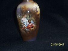 "R.S. Prussia Vase, Victorian Pair Transfer, ""SC/L"" in Gold Mark,RARE"