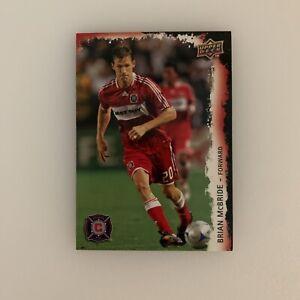 2009 Upper Deck Brian McBride # 30 Chicago Fire MLS Soccer Football Card USMNT