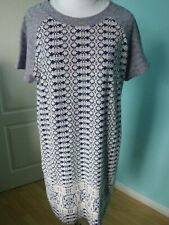 Hobbs N.W. 3 knitted loose fit pattern short sleeve dress size 14