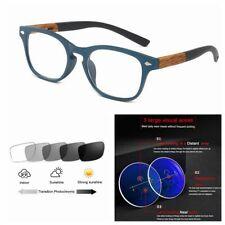 Multifocal Progressive Photochromic Retro Rectangle Rx Optical Reading Glasses