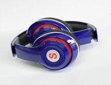 Foldable Stereo Bluetooth Headset Wireless Stereo Headphones SD Card FM Blue