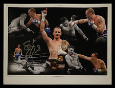 *New* George Groves Signed 12x16 Boxing Montage