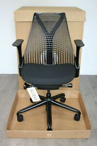 Fast UK Delivery | Herman Miller Sayl Chairs | Black Frame & Seat | 2019