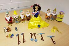 BIANCANEVE E I SETTE NANI SIMBA doll figure set completo con accessori