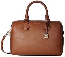 Michael Michael Kors Mercer Medium Luggage Leather Duffle Bag