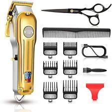 CIICII Professional Mens Hair Clippers Cordless Hair Trimmer Beard Trimmer Set