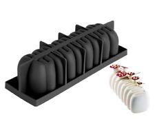 Moule silicone gâteau forme bûche de noël ondulée pâtisserie 3D - 29*9.5*7.5 cm