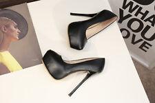 Platform Drag Queen Men's High Heels Crossdresser Pumps White Stiletto Big Shoes