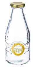 Kilner 1 Pint Milk Bottles 20oz - Vintage School Style Glass Milk Bottle for