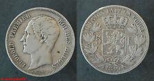 Belgique ! Ecu de 5 francs LEOPOLD PREMIER 1849 tête nue, en TB