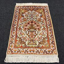 Türkischer Seidenteppich 65 x 46 cm Hereke Seide Turkish Silk Carpet Rug Tapis