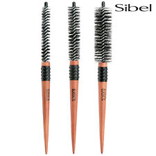 Sibel Round Classic Round Hair Brushes 15-30mm & Professional Rat Tail + Nylon