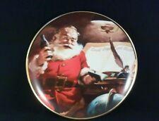 Coca-Cola Franklin Mint (Making A List) Fine Porcelain Decor. Plate > Christmas