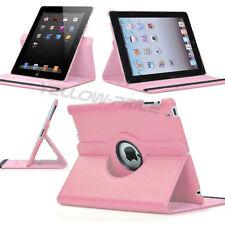 Colorful!! 360 Rotating iPad 2 3 4 Smart PU Soft Leather Case Stand Cover-Orange