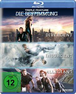 Die Bestimmung - Teil: 1 - 3 [Blu-ray/NEU/OVP] Buchvorlage Veronica Roth