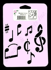 MUSICAL NOTES STENCIL MUSIC TEMPLATE PAINT CRAFT COLOR ART NEW BY STENSOURCE