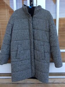 Max Mara Wool Tweed Padded Reversible Winter Jacket