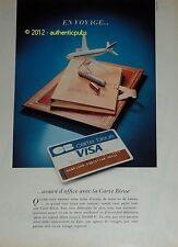 PUBLICITE ANCIENNE DE 1981 CARTE BLEUE VISA EN VOYAGE CB FRENCH BANK AD IMPACT