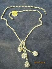 Vintage 1980's Necklace Genuine Austrian Crystals