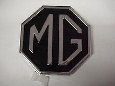 MG,MGB,MG MIDGET PLASTIC TRUNK LID BADGE / EMBLEM W FITTINGS,NEW 34G252, 1970-76