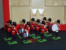 Britains 7206 Guardie Scozzesi A TAMBURO + Bugle TEAM METAL Toy Soldier Figure Set